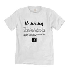 Running T-shirt for Runner, Cyclist, Triathlete, Swimmer. Funny, quotes. Perfect gift. Funny, unique and quirky (and sometimes downright rude) sports, fitness and booze themed gifts, cards and artwork www.worrylessdesign.co.uk