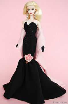 Barbie BLACK - ROSE **+