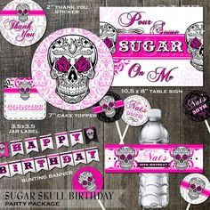 Sugar Skull Birthday Party Decoration Package by OddLotPaperie