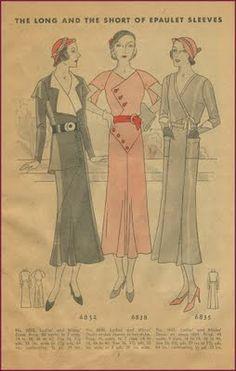 Vintage 1930s pattern