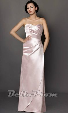 Strapless Bridesmaid Dress With Ruched Bodice A3301