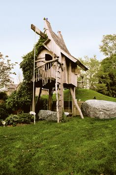 Een echte boomhut, gemaakt door treehouse master himself Pete Nelson.