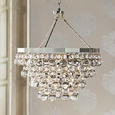 Robert Abbey Bling Collection Convertible Chandelier--over the dining area?