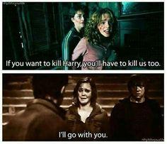 Hermione will always choose Harry —harmione shipper