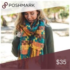 """B153 Teal Fuchsia Soft Basket Weave Knit Scarf ‼️ PRICE FIRM UNLESS BUNDLED WITH OTHER ITEMS FROM MY CLOSET ‼️   ABSOLUTELY STUNNING! Dress up any outfit! 100% acrylic.  These scarves are so soft you will want to curl up & sleep with them. Approximately 25"""" wide, 78"""" long.  Please check my closet for many more items including jewelry and designer clothing. Accessories Scarves & Wraps"""
