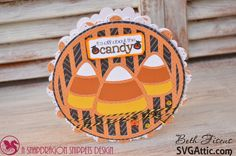 Beth's Beauties: Candy Corn halloween card using Bumblebee #trendytwine and a SVG file from #svgattic