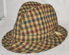 Failsworth - Brown All Wool Classic Trilby Hat Size Medium, Made In Britain