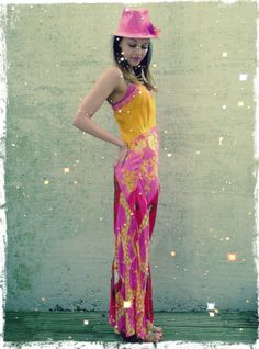 Upcycled Patchwork Vintage Silk Scarf Camisole Maxi Dress available from www.darrylblack.com