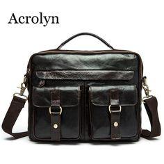 a2e6f3d839 Mens Cowhide Shoulder Bag Men's Guaranteed Genuine Leather Messenger Bags  Man Business Handbag pool **