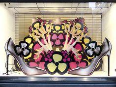 Selfridges Christian Louboutin window displays