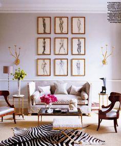 Luxuriate in the Living Room. Interior Designer: Alex Papachristidis.