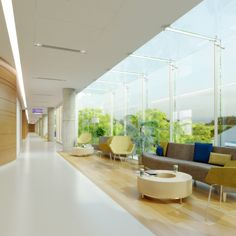 Institutional Design for Women and Children Healthcare Facilities | NICU Corridor | Parkin Architects
