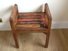 reclaimed wood furniture | Dining Room Furniture / Dining Chairs /Reclaimed Painted Wood Chair