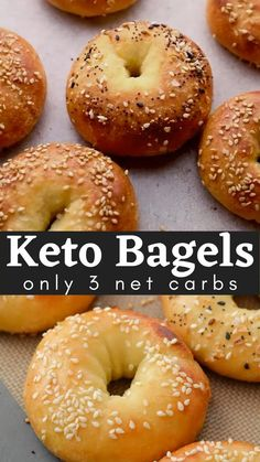 Gluten Free Recipes, Low Carb Recipes, Cooking Recipes, Healthy Recipes, Low Calorie Bagel Recipe, Gluten Free Low Carb Bread Recipe, Easy Keto Bread Recipe, Best Low Carb Bread, Keto Bagels