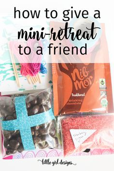 Have a friend who needs a mini-retreat? Here's how you can put together a mini creative retreat for her that she'll love. Makes the perfect best friend gift! Diy Gifts For Friends, Best Friend Gifts, Gifts For Boys, Best Friends, Bff Gifts, Sister Gifts, Movie Basket Gift, Movie Gift, Creative Gift Baskets