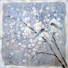 Blue Birds Oil Painting Canvas Wall Art $229.95