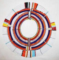 African Maasai Masai Beaded Ethnic Tribal Collar Necklace Jewelry Kenya 02 | eBay