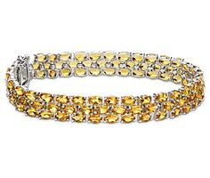 Trio Oval Citrine Bracelet in Sterling Silver