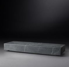 RHu0027s Low Marble Plinth Rectangular Coffee Table:American And Italian Design  Of The 1970s Informs
