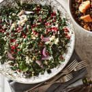 Try the Kale Salad with Quinoa, Pistachios and Pomegranate Seeds Recipe on williams-sonoma.com/