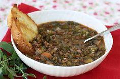Italian Food Forever » Lentil, Kale & Sausage Soup