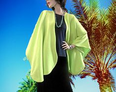 New Lime Green Ruana Wrap/Poncho/Women Cape/Shawl/Lightweight Jacket/Gift for Her/Oversize Kimono/Boho Kimono/Oversize Coat/Cardigan/Duster - Edit Listing - Etsy Ruana Wrap, Capes For Women, Boho Kimono, Oversized Coat, Lightweight Jacket, Fall Outfits, Shawl, Duster Coat, Lime