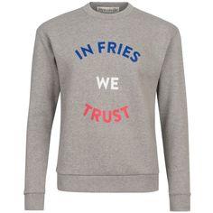 être cécile In Fries We Trust Boyfriend Sweatshirt ($110) ❤ liked on Polyvore featuring tops, hoodies, sweatshirts, boyfriend tank top, long sleeve tops, brown tops, long sleeve sweatshirt and oversized sweatshirts