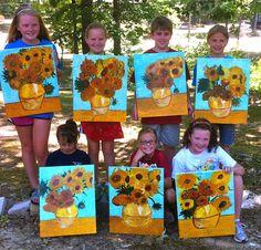 V is for Van Gogh Van Gogh's Sunflowers Classroom Art Projects, School Art Projects, Art Classroom, Vincent Van Gogh, 2nd Grade Art, Second Grade, Van Gogh Art, Art Lessons Elementary, Art Party