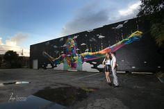 Murals downtown St. Petersburg, FL, street art, street artist