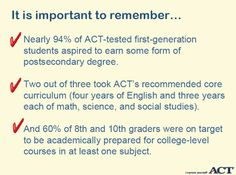 """How can you help prepare """"First Generation"""" students for college?"""