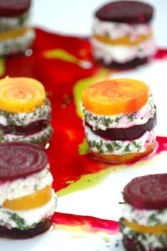 roasted-organic-golden-and-red-beet-salad-with-fresh-herb-goat-cheese
