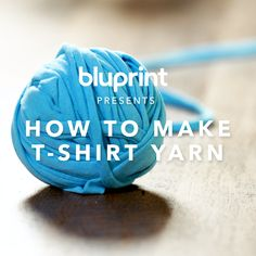 Don't Toss Those Old T-Shirts! Here's How to Turn Them Into Soft, Fabulous Yarn Don't Toss Those Old T-Shirts! Here's How to Turn Them Into Soft, Fabulous Yarn: Upcycle your t Weaving Projects, Knitting Projects, Crochet Projects, Crochet Crafts, Yarn Crafts, Fabric Crafts, Sewing Crafts, Plastic Bag Crafts, Fabric Yarn
