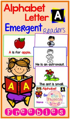This set is designed to help beginning reading skills while focus on the letter A and build confidence and fluency. Children will learn to write, color, draw and read sentences. This set is perfect for Preschool and Kindergarten students.  Preschool | Kindergarten | Preschool Reading | Kindergarten Reading | Free Emergent Readers | Free Lessons | Printables
