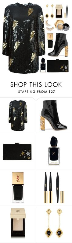 """Holiday Style"" by junglover ❤ liked on Polyvore featuring Au Jour Le Jour, Dolce&Gabbana, Edie Parker, Chanel, Armani Beauty, Yves Saint Laurent and W. Britt"