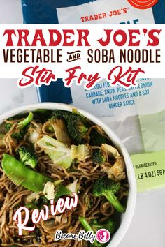 Real Food! Trader Joe's has finally graced us with something other than a snack food or dessert item. On the flip side, I can say that this was worth the wait! This is a healthy meal in a bag. It's loaded with veggies. And if you need some carbs to feel full you have some delicious soba noodles waiting to be reheated here. | Become Betty @becomebetty #traderjoesasianfood #traderjoesfrozen #traderjoesshopping #traderjoesstirfry #traderjoesmusttry #traderjoesshoppinglist #becomebetty Asian Noodle Recipes, Easy Asian Recipes, Vegetarian Recipes Easy, Beef Recipes, Real Food Recipes, Trader Joes Vegetarian, Summer Snack Recipes, Red Sauce Pasta Recipe, Pasta Dinner Recipes