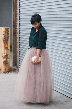 ecstasymodels:  Tulle +Plaid Kryzayda  BGKI - the #1 website to view fashionable & stylish black girlsshopBGKI today