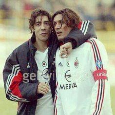 Rui Costa y Paolo Maldini