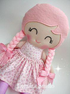 Handmade cloth doll RagdollCloth dollShabby by lunnitastudio
