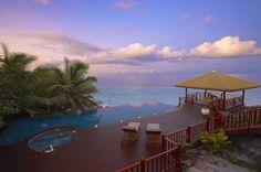 Aussergewöhnliche Hotels, Fregate Island Private, Abendstimmung