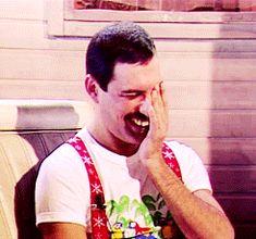 gif gifs Freddie Mercury Queen My Gifs: Queen kenpachii Queen Freddie Mercury, Queen Mercury, Freedy Mercury, Freddie Mercury Teeth, Freddie Mercury Interview, John Deacon, Brian May, I Am A Queen, Save The Queen