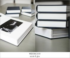 Queensberry Wedding Album with mini copy albums | Classic Matted - Ink Micro Leather Cover | Photography by Weddings By Nicola & Glen - UK