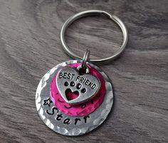Star Pet Tag - Pink Pet Tag - Pink Dog Tags - Heart Pet Tag - Heart Dog Tag - Pet ID Tags - Dog Tags - Cat Tags - Cat ID Tags - Pet Tags