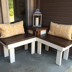 s best diy patio furniture projects, DIY Corner Bench With Built In Table Patio Furniture Makeover, Diy Outdoor Furniture, Deck Furniture, Furniture Projects, Rustic Furniture, Painted Furniture, Wood Projects, Furniture Design, Modern Furniture