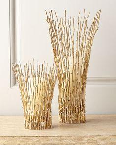 Large Twig Candleholder, Gold - Neiman Marcus