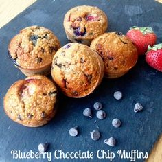 Healthy Blueberry Chocolate Chip Gluten and Dairy Free Muffins