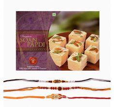 Set of Three Rakhi with sweets