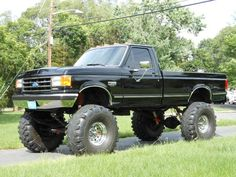 This is actually a spitting image of my hubby's old black ford he had! Loved that truck.. (For a ford that is)