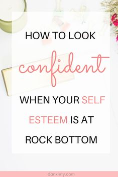 Easy ways to start looking confident today. Fake confidence with these 11 easy tips. Learn how to look self assured and make others think you are effortlessly confident. #confidence #selfesteem Building Self Confidence, Building Self Esteem, How To Look Confident, Motivational Quotes, Inspirational Quotes, Self Improvement Tips, Self Care Routine, Journal Prompts, Mental Health Awareness