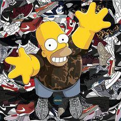 Homer the sneaker Addict
