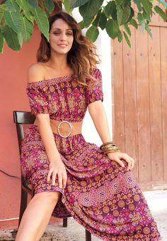 Another Peasant Style Maxi Dress